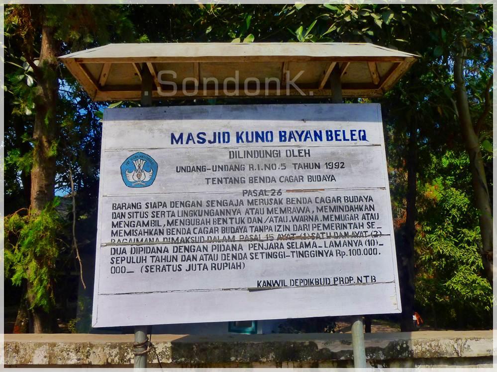 Masjid Kuno Bayan Beleq Lombok Utara Jalan Makan Salah Satu