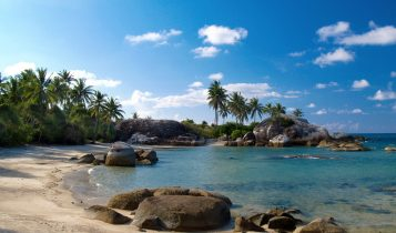 Keindahan Pantai Parai Tenggiri Desa Sinar Biru Bangka Belitung Lokasi