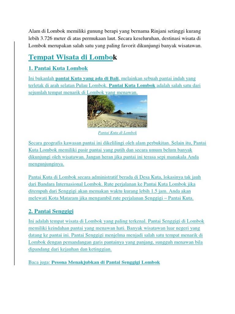Lombok Docx Pantai Lokok Piko Kab Utara