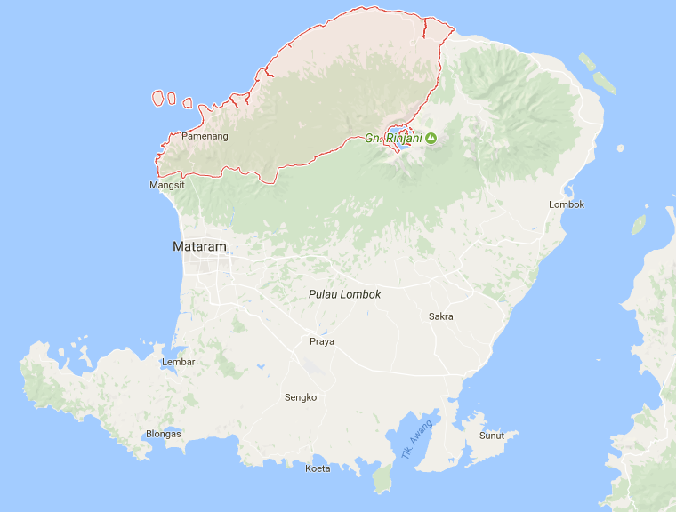 Tempat Wisata Kabupaten Lombok Utara Pantai Lokok Piko Kab
