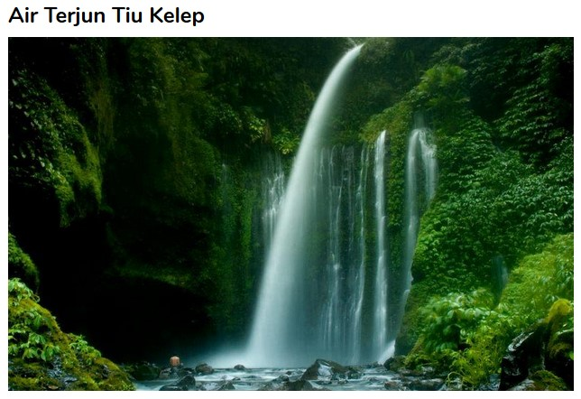 Tempat Wisata Lombok Utara Menakjubkan Gammafis Blog Air Terjun Tiu