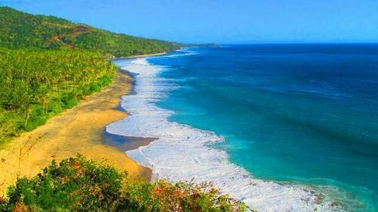 Keindahan Pantai Setangi Dilihat Bukit Malimbu Emang News Kab Lombok