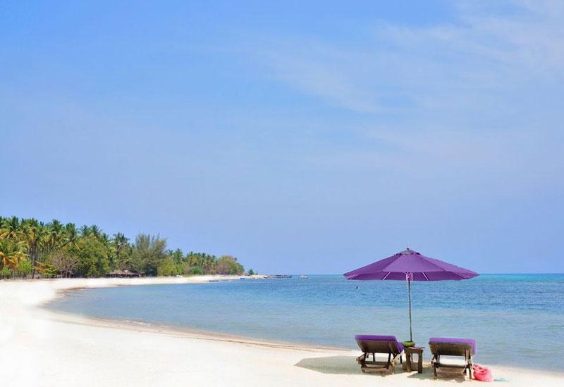 Pantai Sire Lombok Utara Pulau Medana Pasir Putih Indonesia Kab