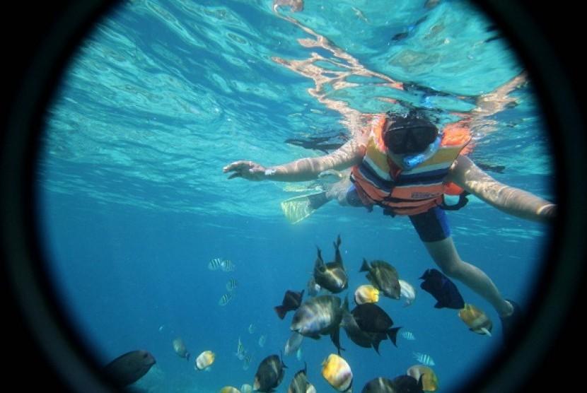 Festival Pesona Gili Indah Lombok Kampanyekan Konservasi Alam Snorkling Trawangan