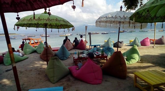 Bermalam Kampung Bule Gili Trawangan Regional Liputan6 Pulau Jelang Sore