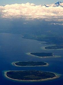 Gili Islands Wikipedia Mount Gunung Rinjani Lombok Indonesia Pulau Meno