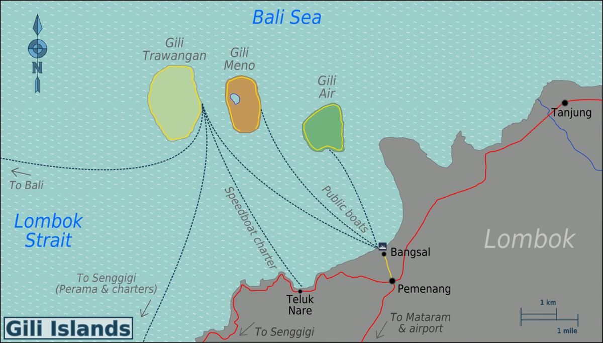 Gili Islands Wikipedia Pulau Meno Kab Lombok Utara