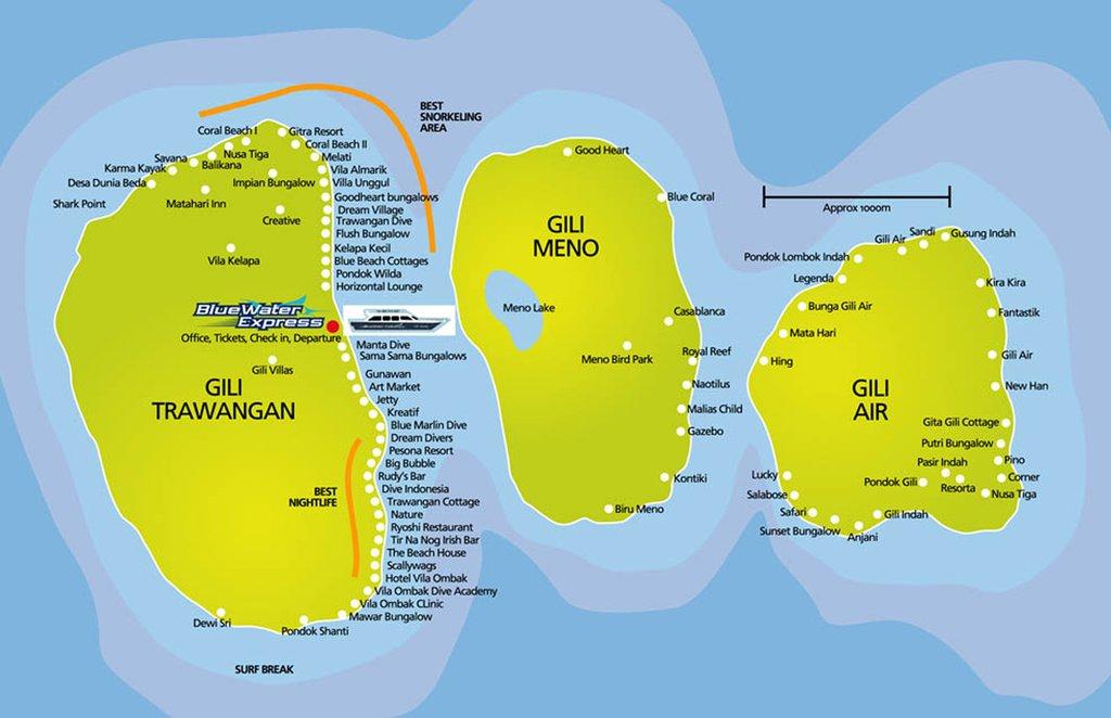 Gili Trawangan Maplets Island Pulau Meno Kab Lombok Utara