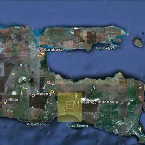 Wisata Pantai Bambang Lumajang Jatim Peta Jawa Timur Kab