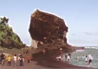 Jelajahi Alam Lumajang Pantai Obyek Wisata Watu Godeg Terletak Kecamtan