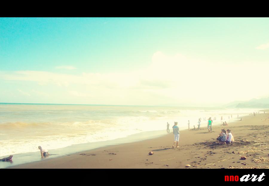 Objek Wisata Pantai Bambang Lumajang Nnoart Salah Satu Tempat Ramai