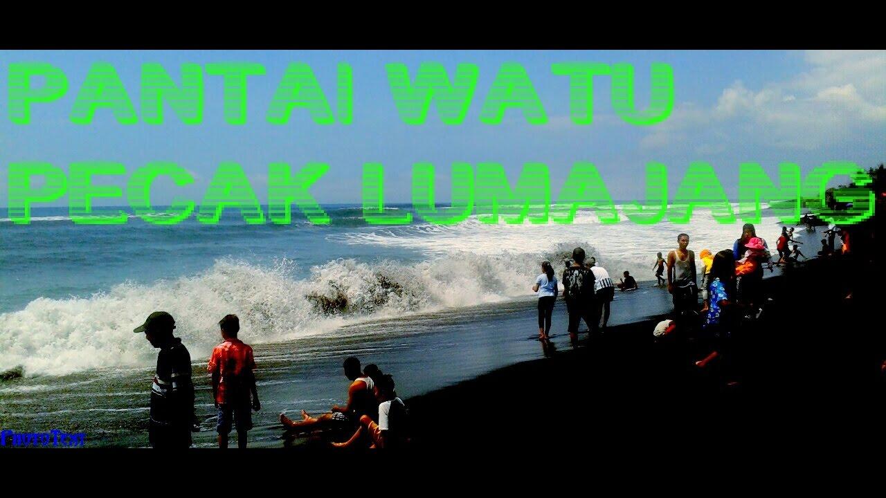 Pantai Watu Pecak Lumajang Youtube Tlepuk Kab