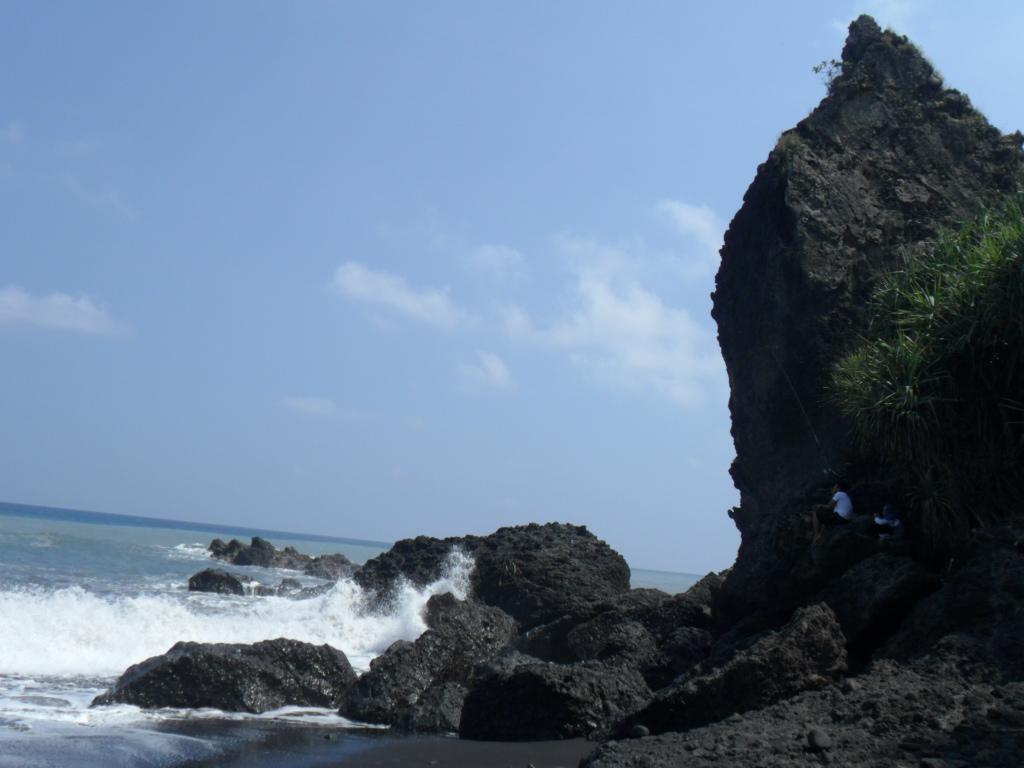 Wisata Lumajang Pantai Watu Godeg Obyek Berada Kecamatan Tempursari Memiliki