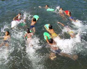 Selokambang Water Park Jadi Jujugan Wisatawan Lokal Pemandian Kawasan Wonorejo