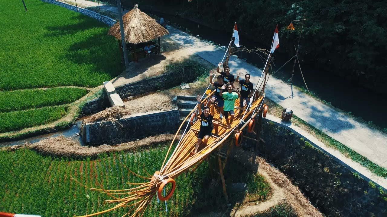 Desa Wisata Brumbun Madiun Rice Field Aerial 4k Youtube Tubing