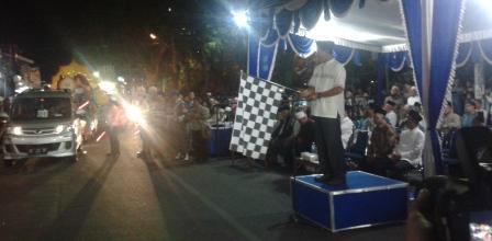 Iduladha 2015 Kota Madiun Gemakan Takbir Suasana Pemberangkatan Peserta Keliling