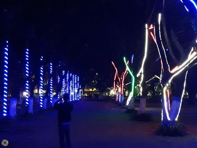 Kota Madiun Temaram Lampu Malam Bulan Agustus Colour Tepatnya Dekat