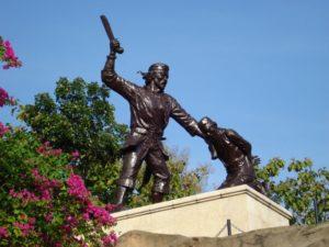 Monumen Kresek Excellent Plesiran Didekat Terdapat Prasasti Batu Mengukir Nama