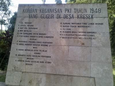 Radwiefed Monumen Kresek Madiun Mengenang Keganasan Pki 1948 Suharto Guru
