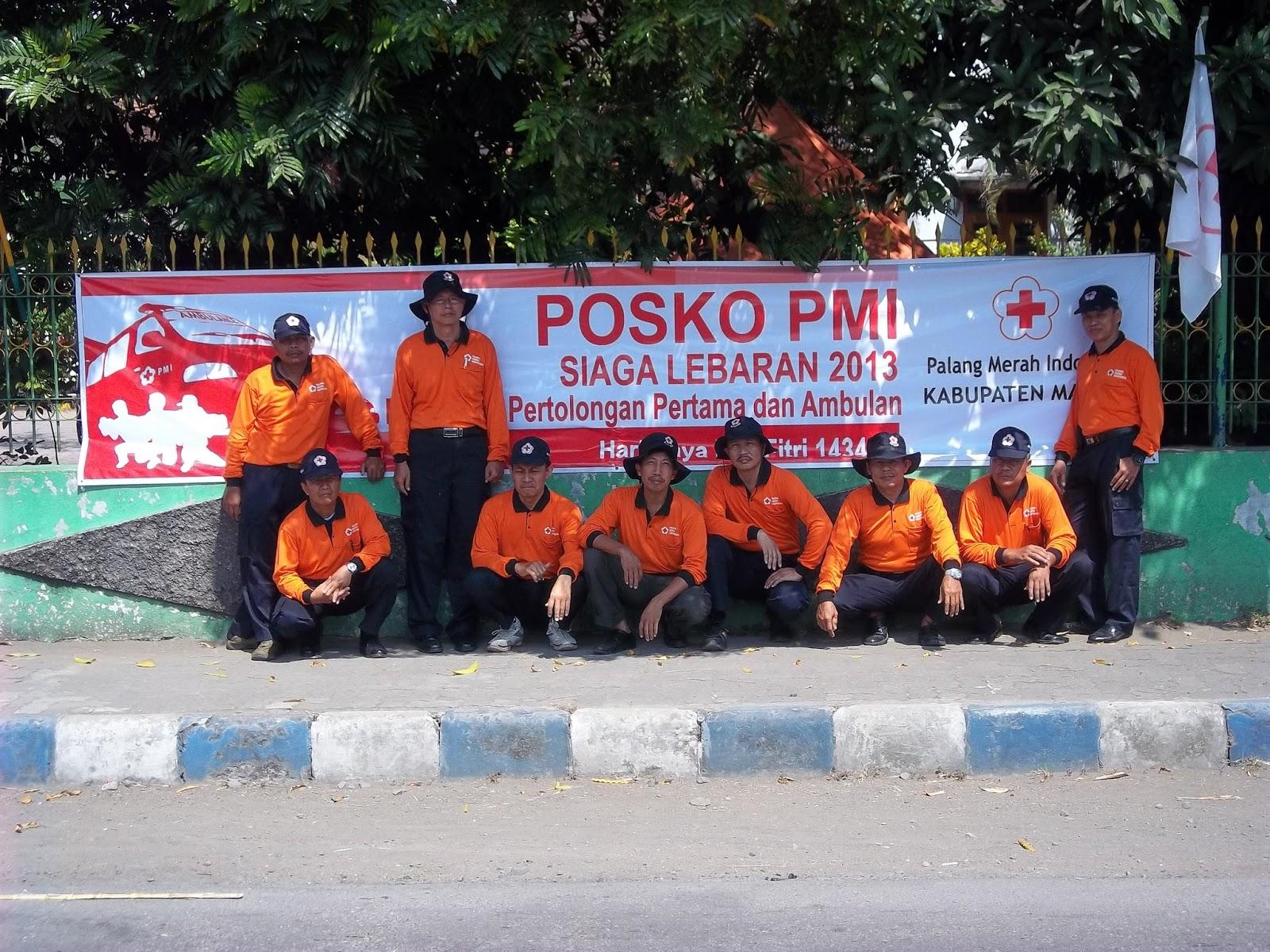 Palang Merah Indonesia Kabupaten Madiun Posko Siaga Lebaran 2013 Rangka