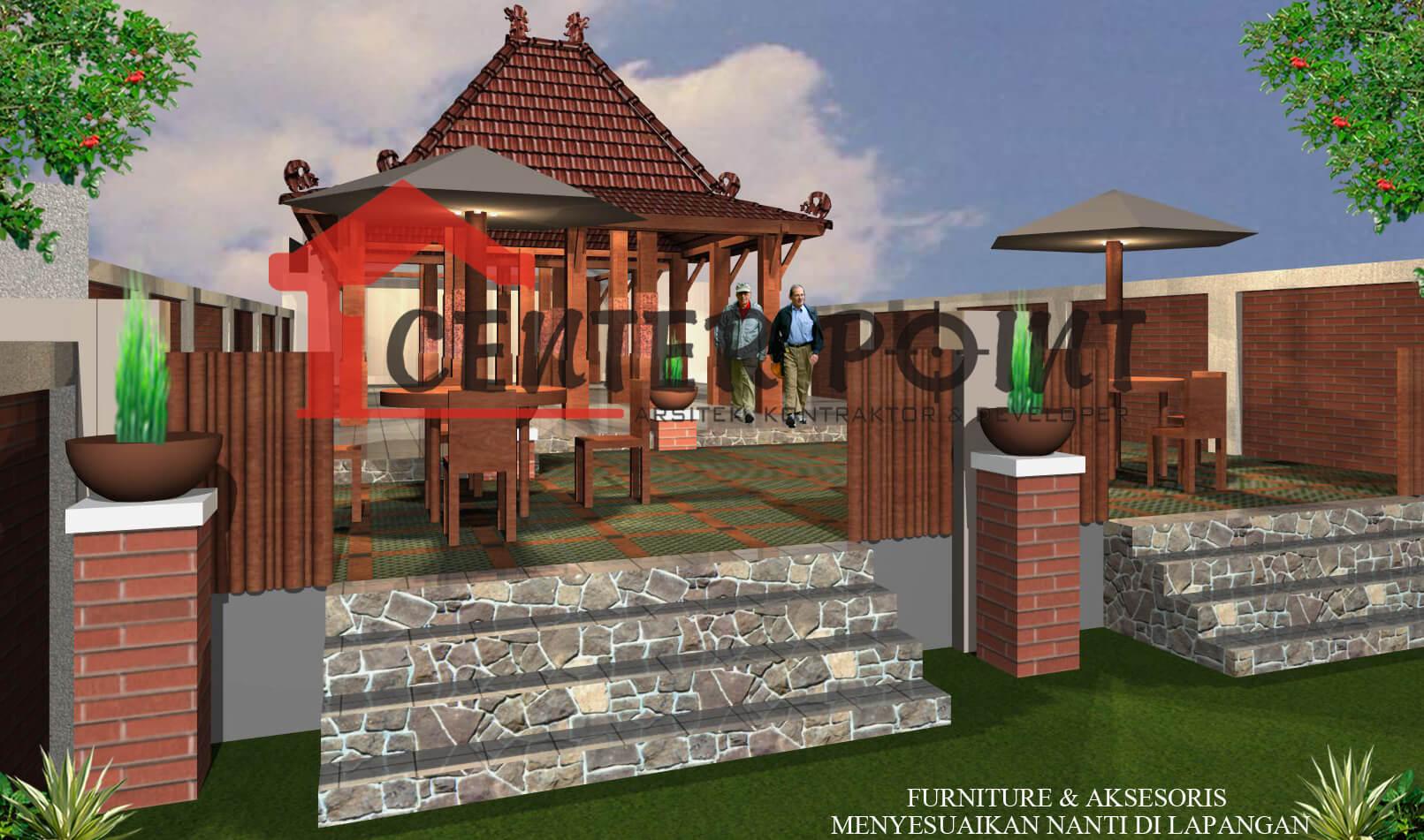 Jasa Arsitek Madiun Professional Murah Gambar Rumah Etnik Sendang Biru