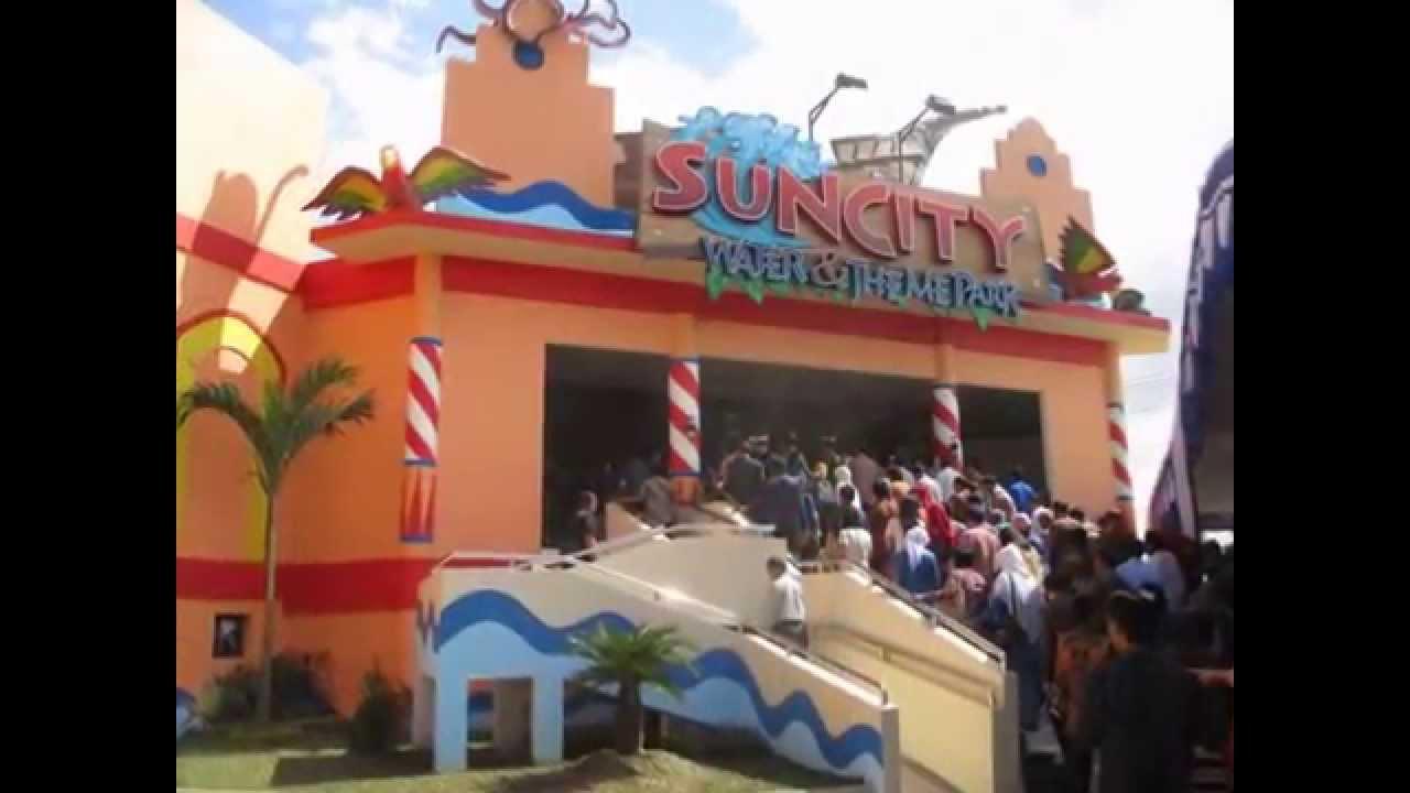 Soft Opening Suncity Waterpark Madiun Youtube Sun City Theme Park