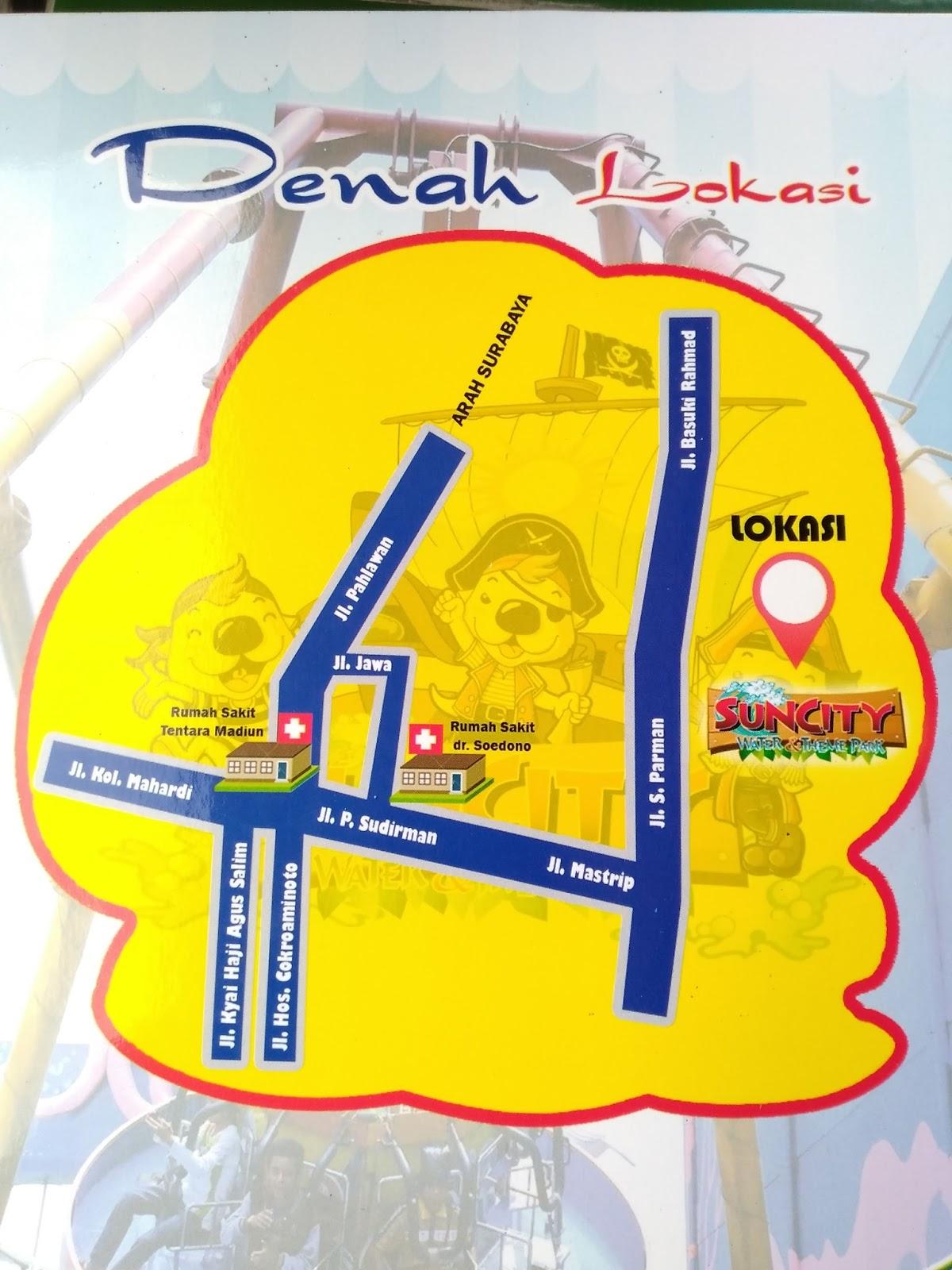 Suncity Madiun Alamat Tiket Masuk Fasilitas Kolam Renang Sun City