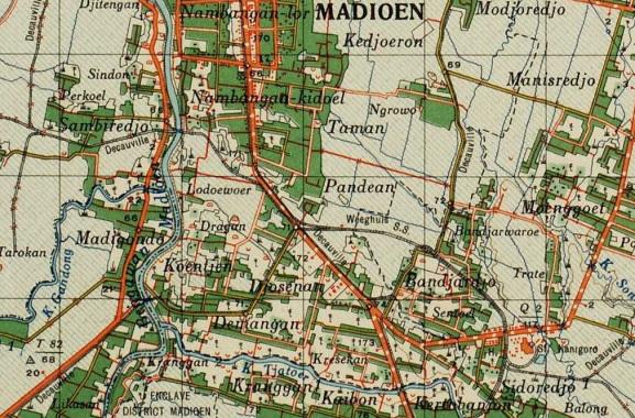 Kepurbakalaan Desa Kelurahan Demangan Story History Sekitarnya Berdasarkan Peta 1941