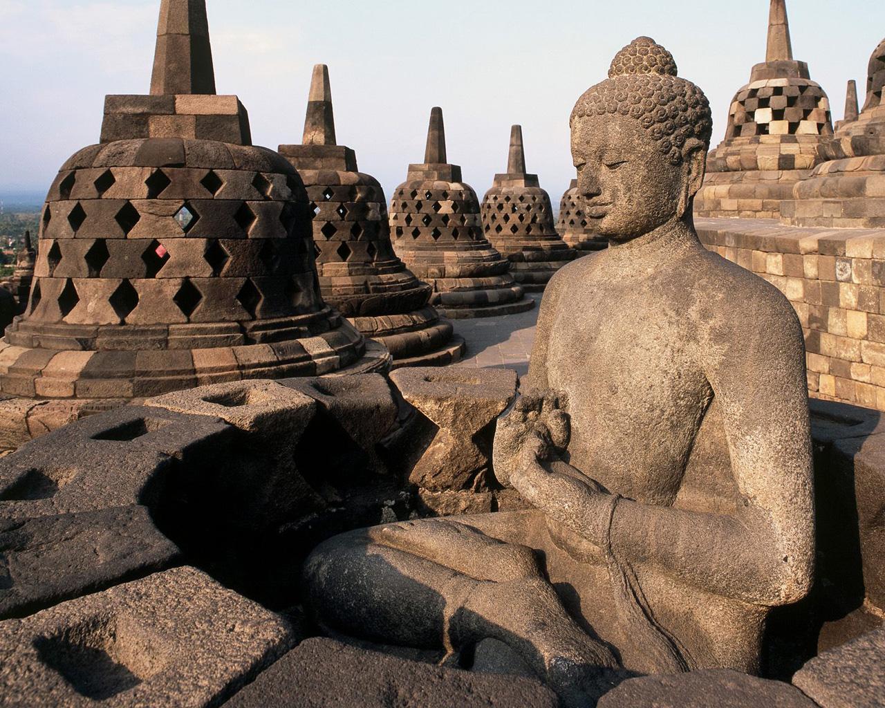 Kab Magelang Patung Borobudur Budha