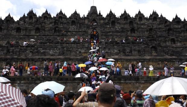 Magelang Siaga Satu Antisipasi Solidaritas Rohingya Borobudur Candi Dipadati Wisatawan