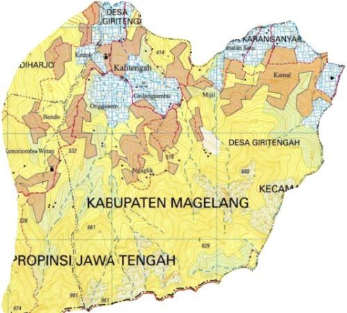 Profil Desa Giritengah Borobudur Magelang Bakosurtanal 2001 Kab