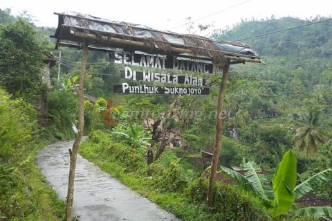 Punthuk Sukmojoyo Magelang Pilihan Lokasi Berfoto Ketinggian Gerbang Masuk Jpg