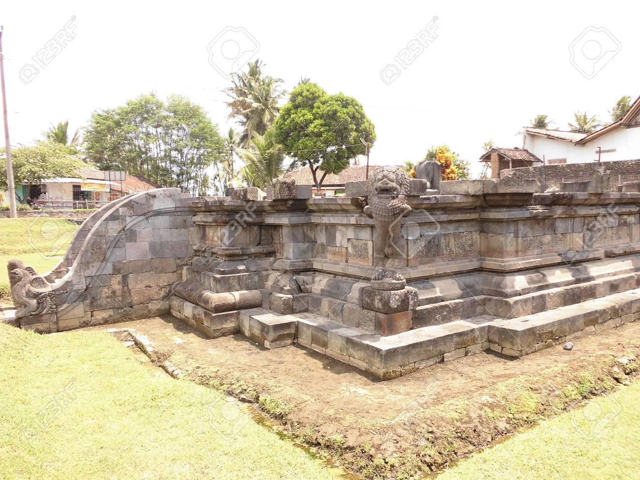 Ruin Candi Ngawen Temple Magelang Central Java Indonesia Stock Photo