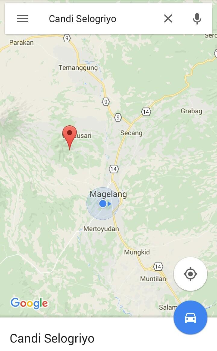 Candi Selogriyo Magelang Jawa Tengah Myrepro Google Maps Selogrio Kab