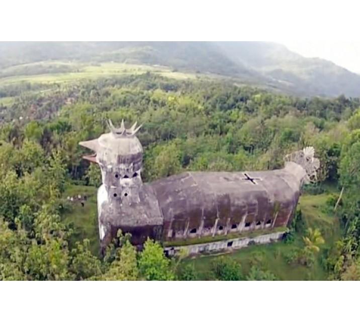 Gereja Ayam Magelang Bangunan Unik Sebagai Tempat Berdoa Tengah Hutan