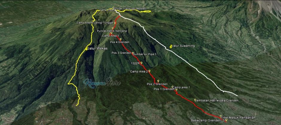 Merbabu Istimewa Pendakian Gunung Grenden Kemana Hore Dusun Tracklog Gps