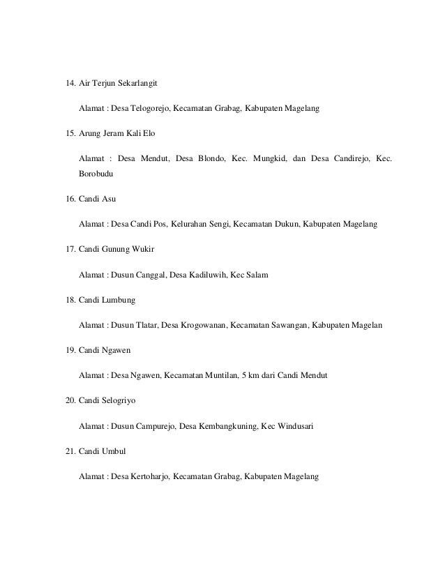 Daftar Tempat Objek Wisata Magelang Jawa Tengah Museum Bumiputera 1912