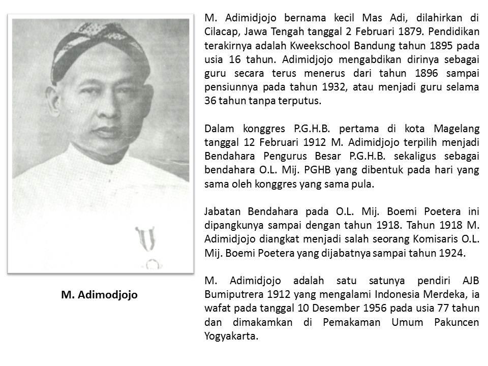 Museum Bumiputera 1912 Pendiri Ajb Bpk Adimidjojo Dilahirkan Cilacap Jawa