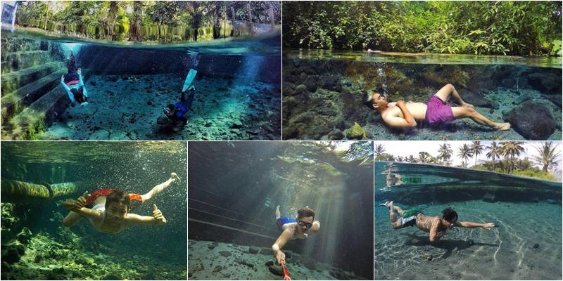 Spot Underwater Magelang Airnya Sebening Kaca Hobiholiday Ndas Gending Kab