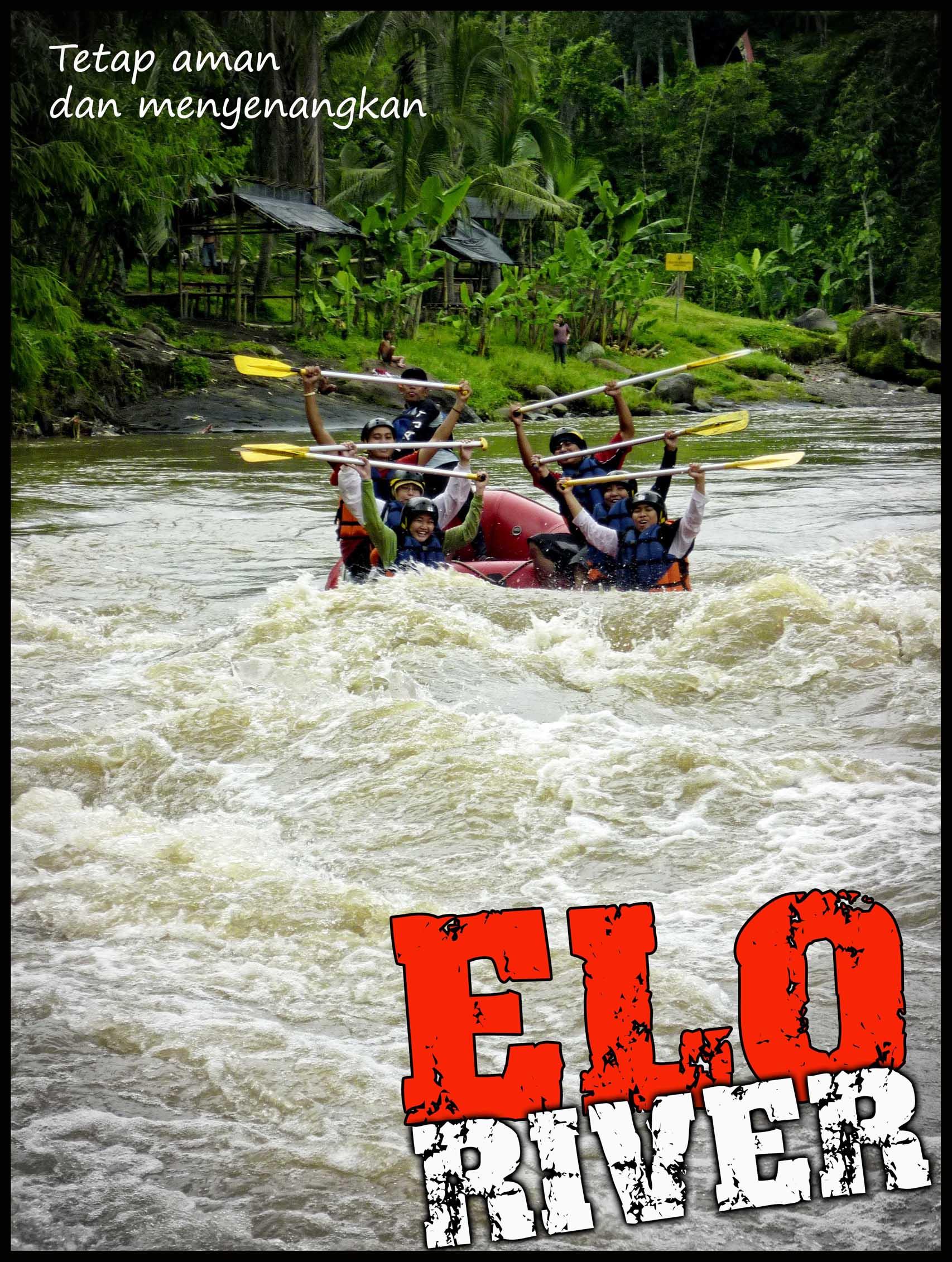 Arung Jeram Sungai Elo Magelang Mendutrafting2010 Menikmati Membujur Bagian Selatan