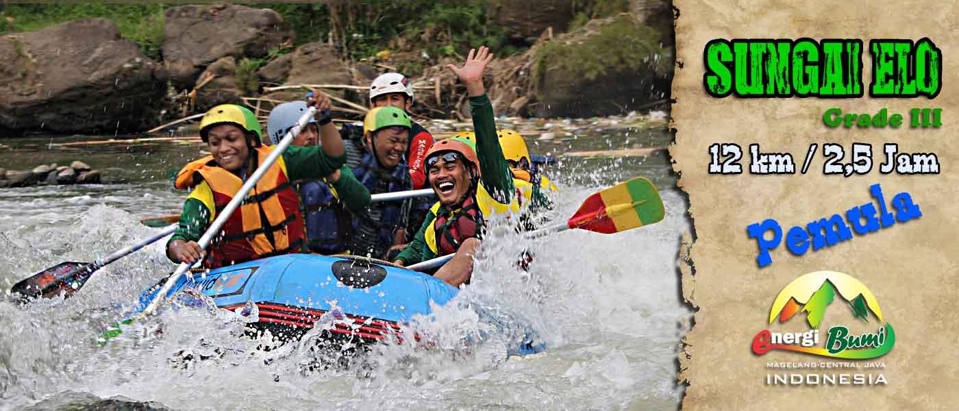 Arung Jeram Sungai Elo Magelang Rafting Mengisi Liburan Bersama Keluarga