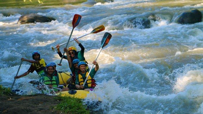 Menikmati Serunya Rafting Sungai Elo Tribun Jogja Ello Kab Magelang