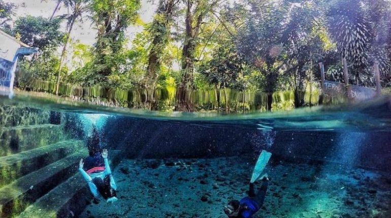 5 Spot Underwater Magelang Sebening Tatapan Pevita Ngetripyuk Sendang Maren