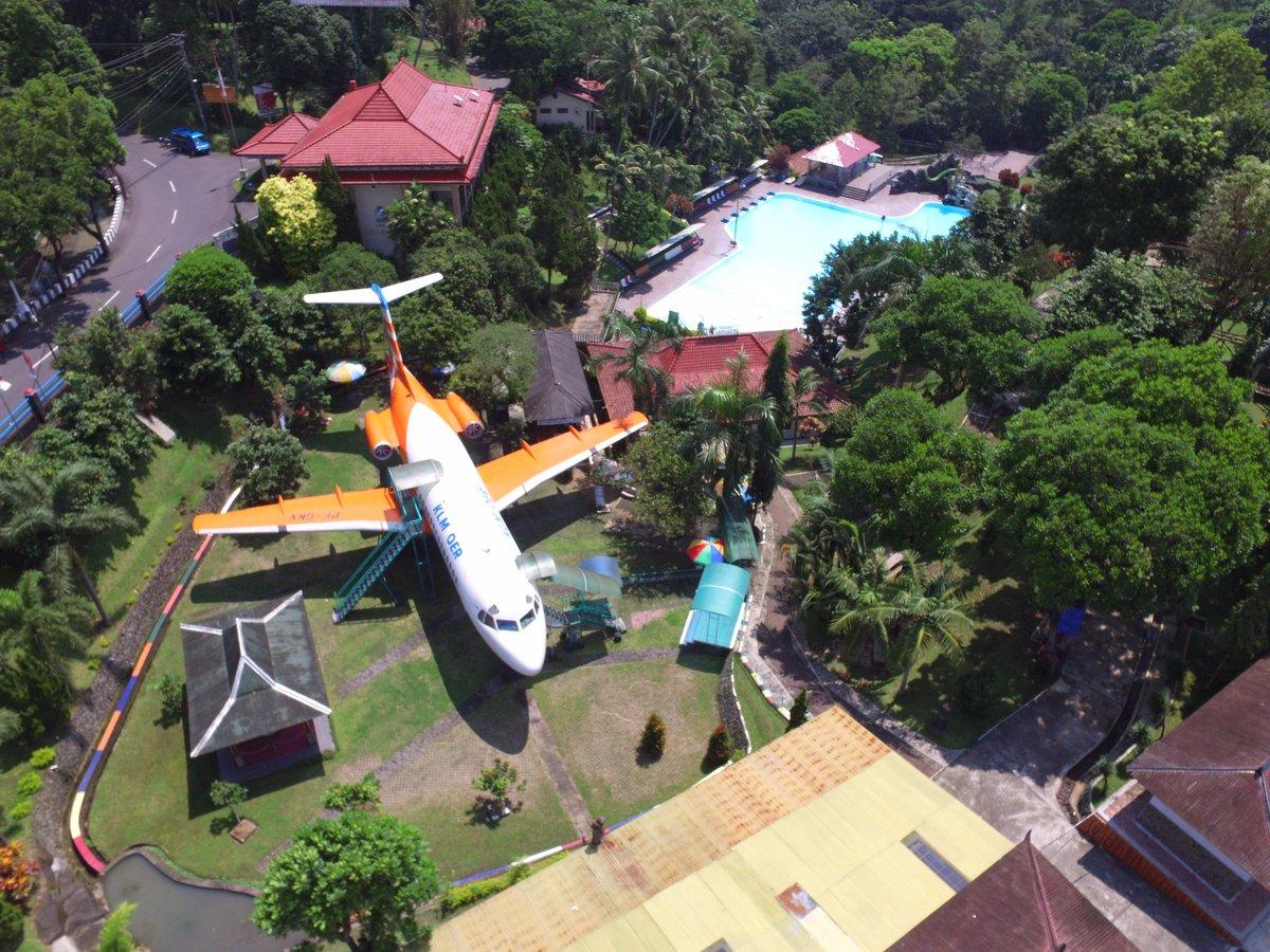 Obyek Wisata Taman Kyai Langgeng Twitter Foto Udara Wahana Anjungan