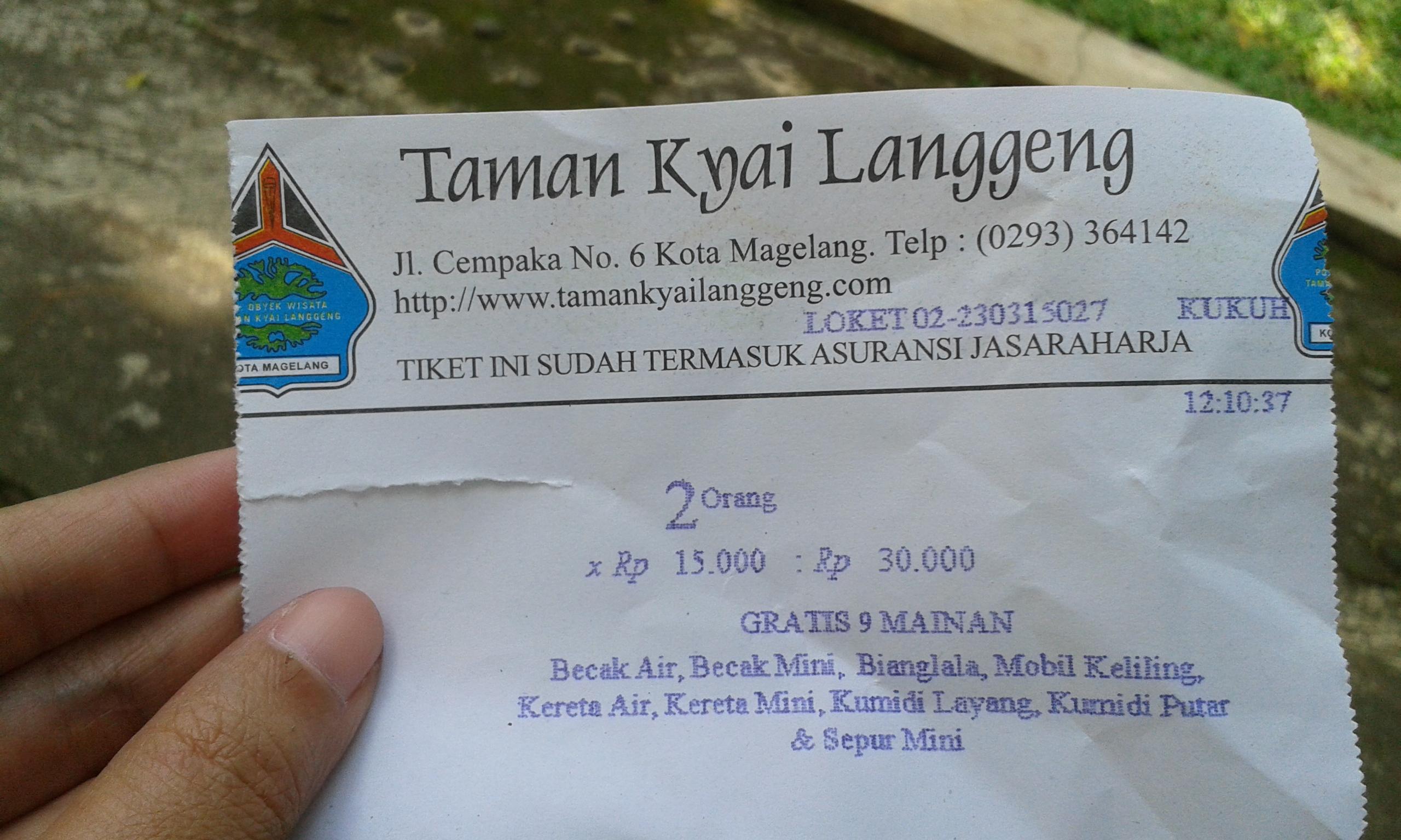 Rute Menuju Kyai Langgeng Fishyblue99 Tiket Masuk Taman Kiai Kab
