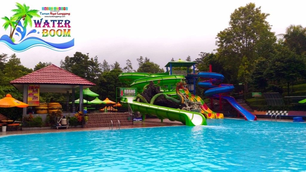 Sensasi Water Boom Tirto Langgeng Taman Wisata Kyai Kiai Kab