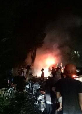 Tribratanews Polres Magelang Polsek Mertoyudan Kebakaran Lapak Jl Purworejo Wisata