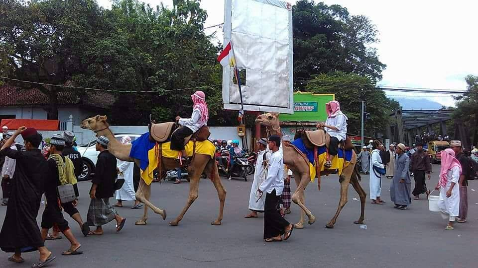Santri Temboro Mengikuti Peringatan Hari Nasional Alun Berda Wah Pawai