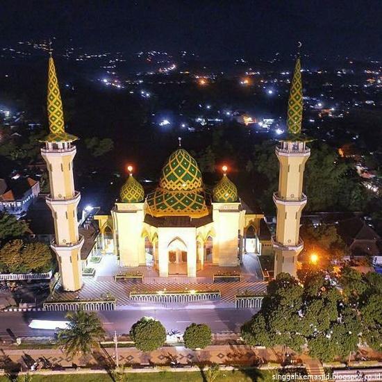 Singgah Masjid Agung Baitussalam Kabupaten Magetan Alun Kab
