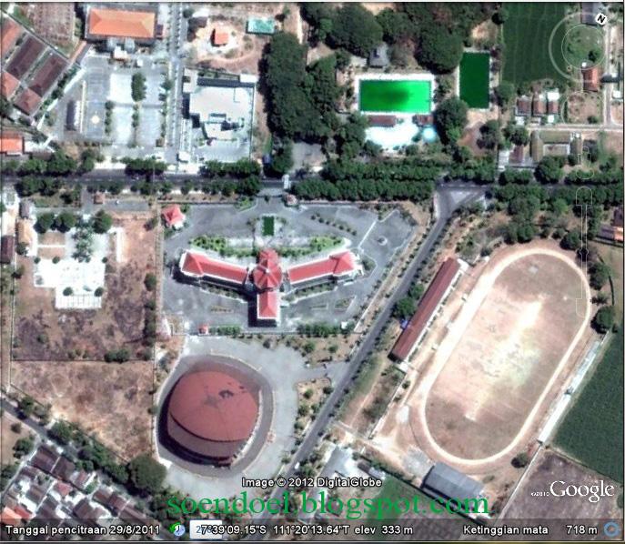 Soendoel Blog Wajah Kota Magetan Ketinggian Atas Gambar Daerah Stadion